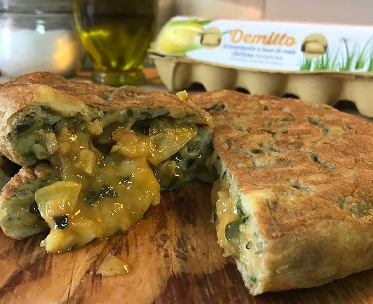 Tortilla-de-pataca-pementos-padron-Demillo