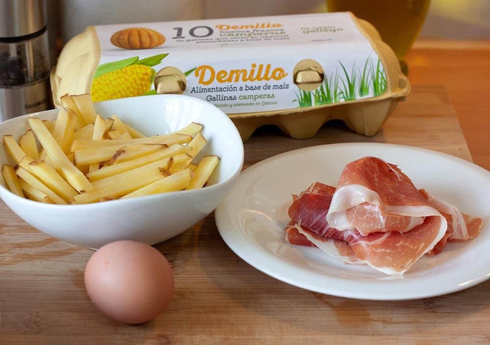 Ovos-rotos-con-xamon-Receitas Demillo